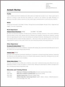 Anisah Harley - Free CV Template