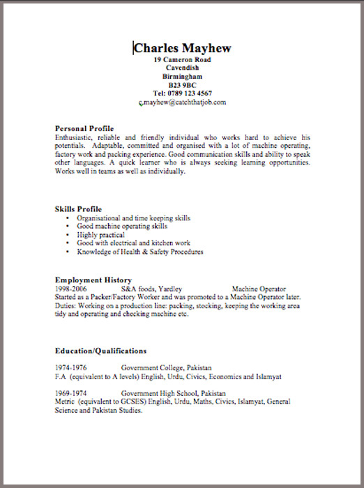Best Resume Layout For Teachers