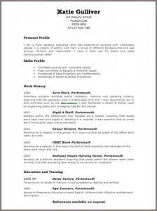 Cv templates jobfox uk katie gulliver free cv template yelopaper Image collections