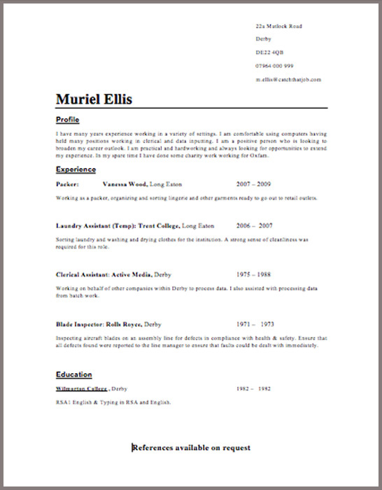 good cv template uk free