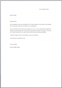 Cover Letter Examples Job Fox Uk