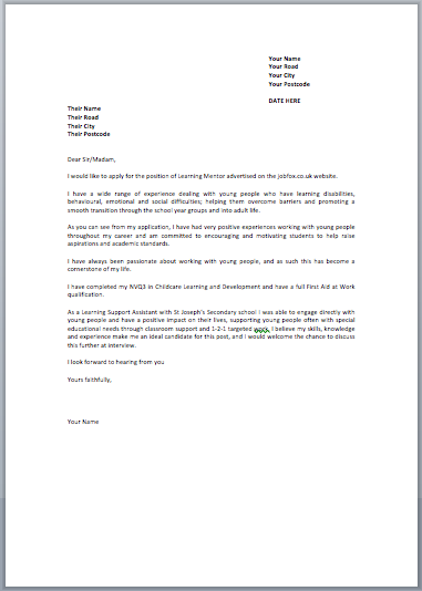 how to write a covering letter for a job uk - example covering letter job application uk covering