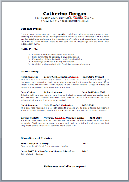 cv driver example delivery driver resume samples resume samples ...